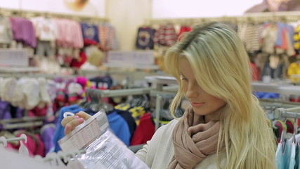 girl in shop