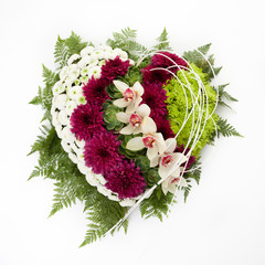 Heart shaped floral arrangement