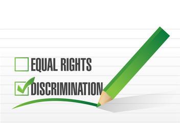 discrimination selection illustration