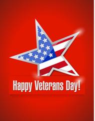 happy veterans day card illustration