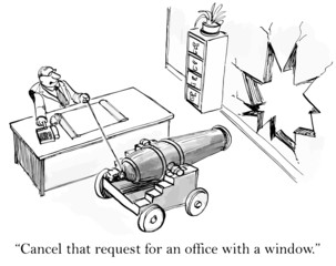 """Cancel that request for an office with a window."""