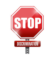 stop discrimination sign illustration
