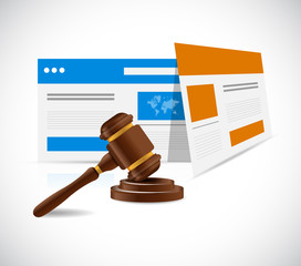 internet law concept illustration design