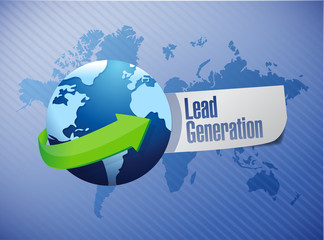 lead generation globe sign illustration