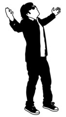 Young Businessman Standing Pose