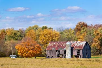 Old Barn in Autumn