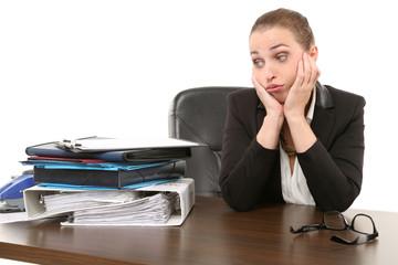 Businessfrau verzweifelt
