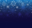 christmas background greeting card with snowflakes
