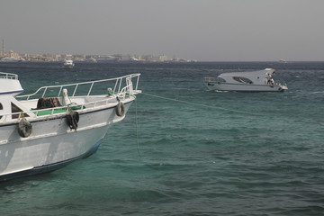 Yacht on the quay