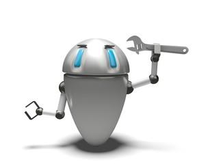 Robot con chiave inglese