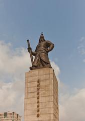 Monument to admiral Yi Sun-shin in Seoul, Korea