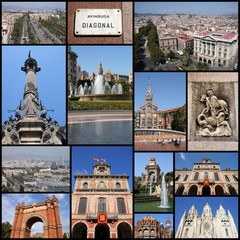 Barcelona - travel photo collage