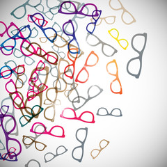 abstract background: glasses