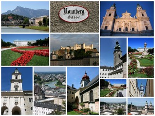Salzburg - travel photo collage