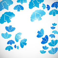abstract background: cloud