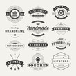 Retro Vintage Insignias or Logotypes set design elements - 72607510