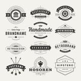 Retro Vintage Insignias or Logotypes set design elements - 72607510
