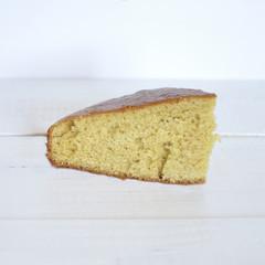 Portion of homemade cake
