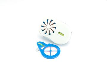 anti-mosquito repellent  on a white background