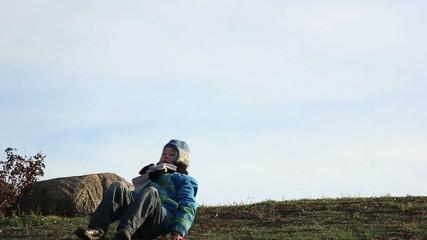 boy indulges in mount