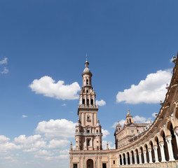 Famous Plaza de Espana in Seville, Andalusia, Spain