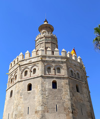 Torre del Oro or Golden Tower (13th century), Seville,Spain