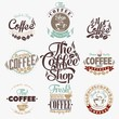 Set Of Vintage Retro Coffee Labels - 72608738