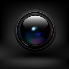 Camera lens. Vector