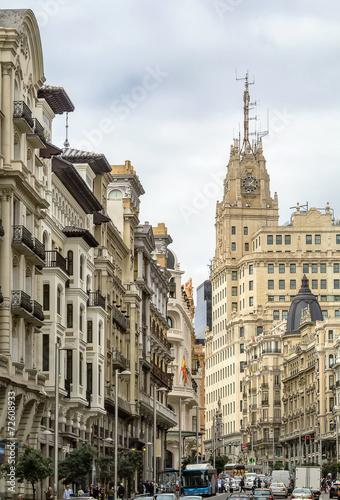 Aluminium Madrid Gran Via street, Madrid