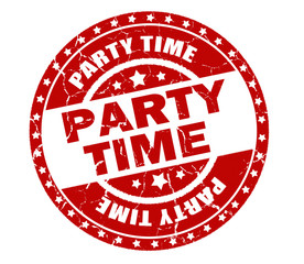 party time stamp isolated on white background
