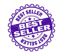 best seller stamp on white background