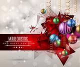 Fototapety Merry Christmas Greeting Card