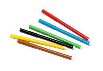 set of felt-tip pens of different colors