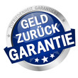 Button with banner Geld zurück Garantie