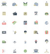 Flat shopping icon set