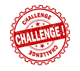 challenge stamp on white background