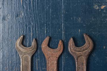 old rusty screw keys
