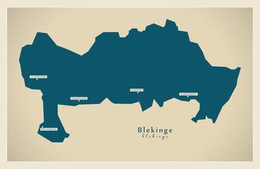 Modern Map - Blekinge SE