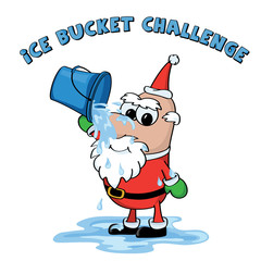 Christmas Ice bucket challenge, Santa