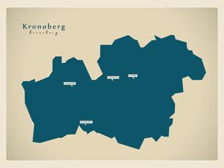 Modern Map - Kronoberg SE
