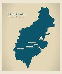 Modern Map - Stockholm SE
