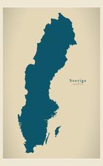 Modern Map - Sverige SE