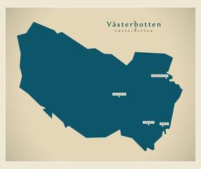 Modern Map - Västerbotten SE