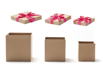 Empty Open Gift Boxes