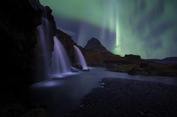 The landscape kirkjufell of Iceland