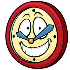 Vector illustration of Cartoon clock