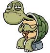 Vector illustration of Cartoon Old turtle - 72613310