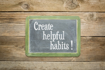 create helpful habits