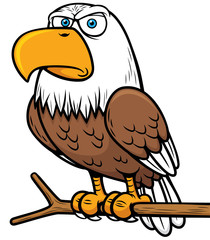 Vector illustration of Cartoon eagle