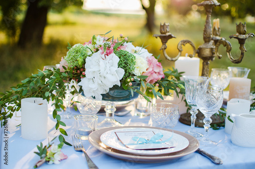 beautiful wedding table - 72614313